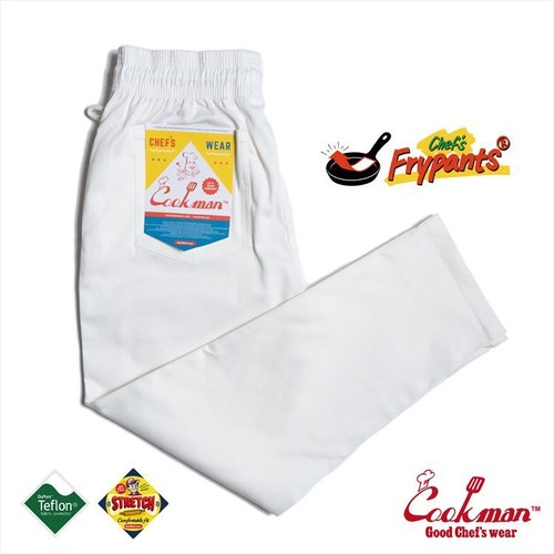 COOKMAN CHEF FLYPANTS「WHITE」/ WHITE