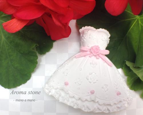 Pink ribonドレスのマグネット/アロマストーン