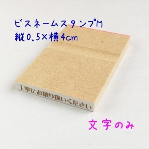 【オーダー】ビスネームスタンプM 0.5cm×4cm