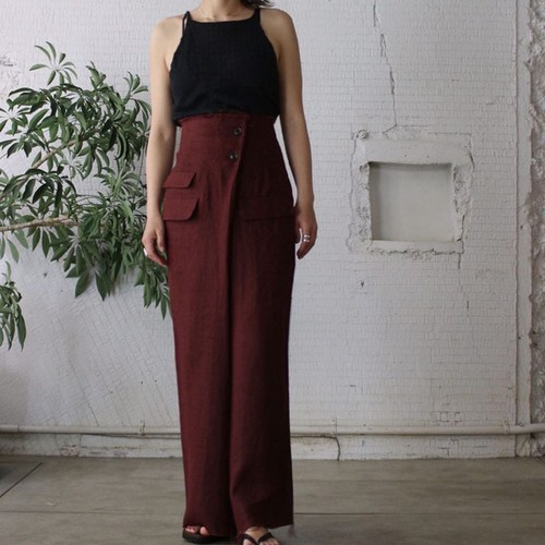 【DOMENICO+SAVIO】HEAVY LINEN WRAP PANTS