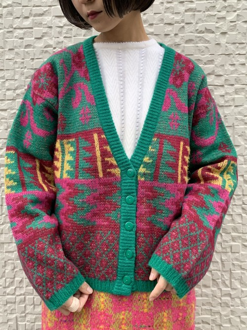 (TOYO) design knit cardigan