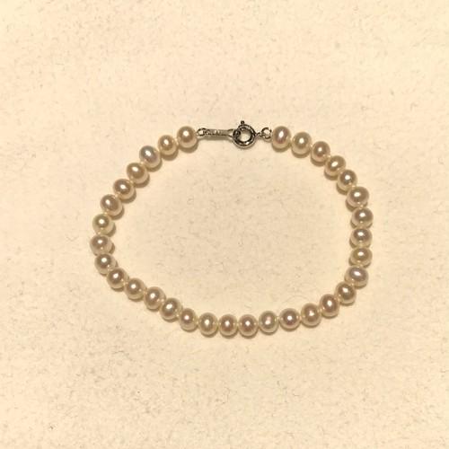 ブレスレット淡水真珠(白)SIL