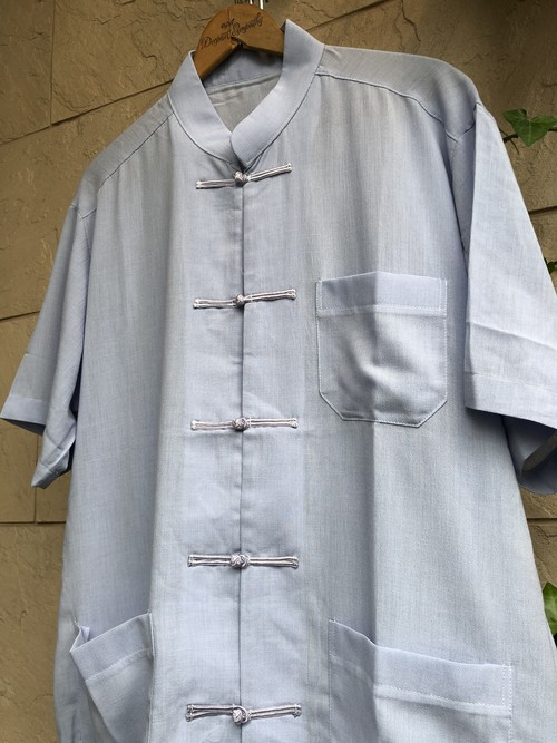 S/S China shirts light blue color made in Taiwan
