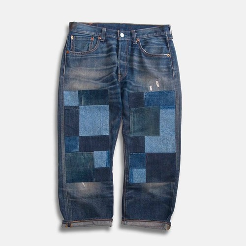 WCH Remake Doubleknee Patch Jeans -B