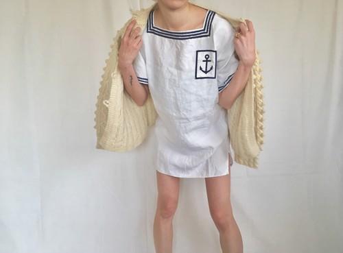 vintage pom pon knit cardigan