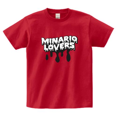 minario / LOVERS LOGO T-SHIRT GARNET-RED