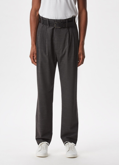 DARTED ELASTIC SUIT TROUSERS