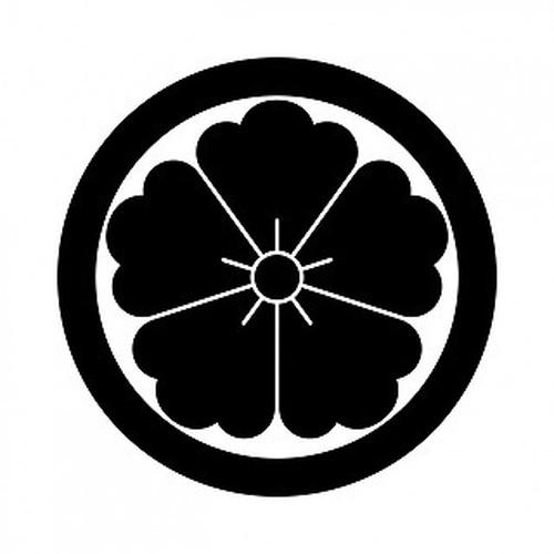 丸に唐花 aiデータ
