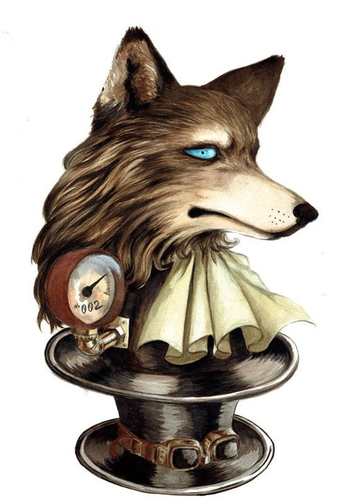 Mai Aimheart 「Hat Wolf」紙にアクリル F4