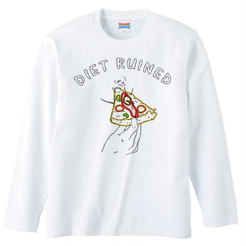 [ロングスリーブTシャツ] Diet ruined 2