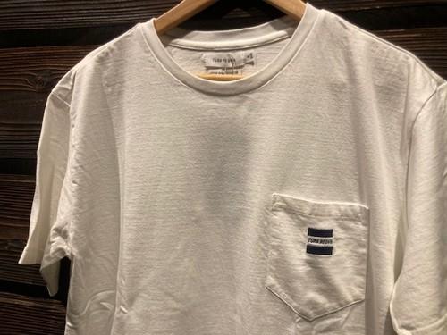 Turn Me On  S/S TEE『ロゴ刺繍』 (WHITE)  121-426 Mサイズ