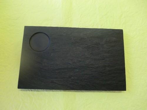 雄勝 石の平皿 しょうゆ受け付き長方形230×140m