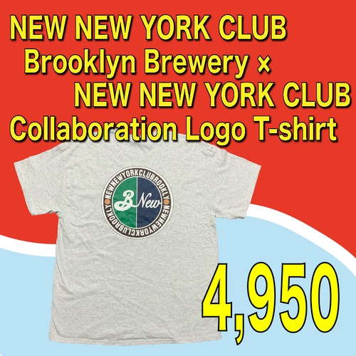 NEW NEW YORK CLUB / Brooklyn Brewery × NEW NEW YORK CLUB Collaboration Logo T-shirt