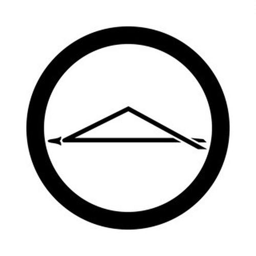 丸に一つ折れ松葉 aiデータ