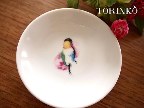 ズグロシロハラインコ お皿 小サイズ(鳥の食器)