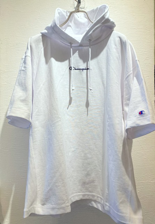 Reverse Weave Pullover Hooded T-shirts(Womens) White