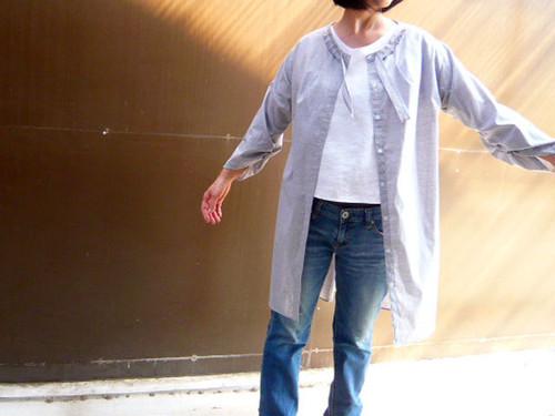 ふんわり羽織るロングブラウスジャケット