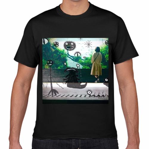 さまざまなモンスターTシャツ 黒