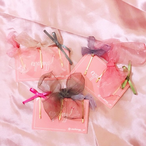 【anchovyy】Ribbon Hair Pins