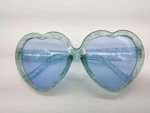 【オールサックス】 ラメ付ききらきらハートサングラス おしゃれハート型♡サングラス