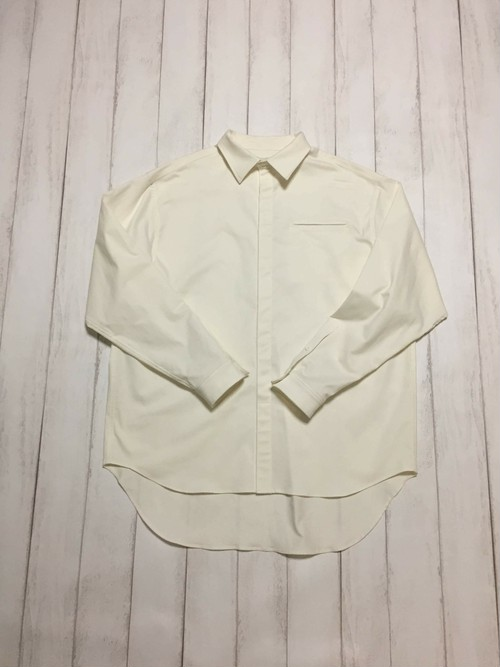 fly front shirt / offwhite