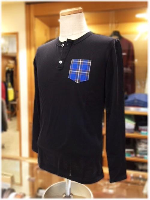 KOBE TARTAN        神戸タータン           ヘンリーネック 長袖Tシャツ