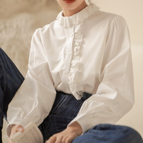 french tight blouse