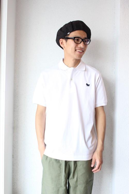 weac (ウィーク) / Pagchan Polo Shirts(パグちゃん ポロシャツ)ホワイト