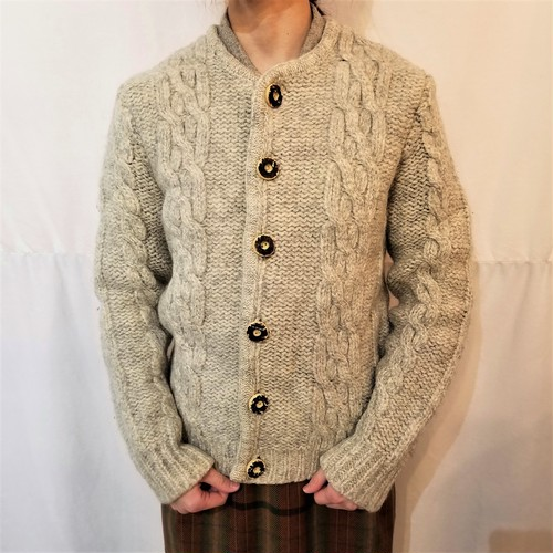 Cable knit cardigan / Made in Austria[D-196]
