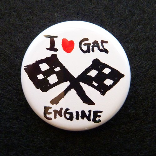 I love GAS engine 缶バッジ