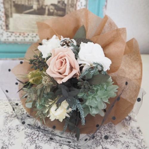 Écru élégance * Petit Bouquet ミニブーケ・壁掛け