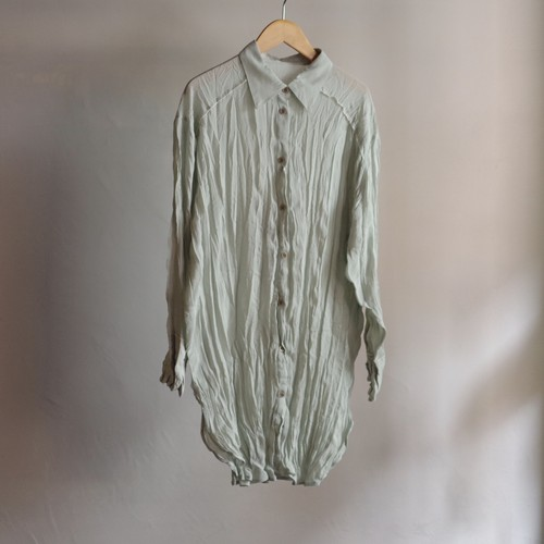 Select Item / Sheer crepe washer Shirt #2 MINT / シアー クレープ ワッシャー シャツ