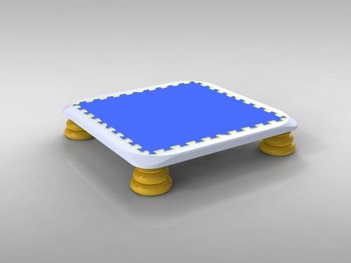 バンバンボード(青色)子供用やわらかスプリング 安全 で 音が響きにくい 人気 の 室内・家庭用 の おすすめトランポリン Blue-S <モリイチイベント開催記念セール>