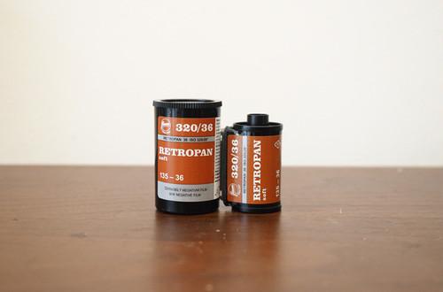 【モノクロネガフィルム 35mm】FOMA(フォマ) RETROPAN320 Soft 36枚撮り