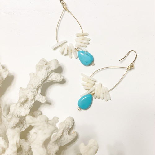 Turquoise×Coral  Earrings