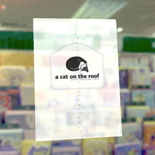 白黒猫クリアファイル-E