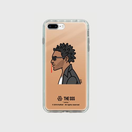 iPhonePlus用 ミラーケース(ピンク ) Lenny