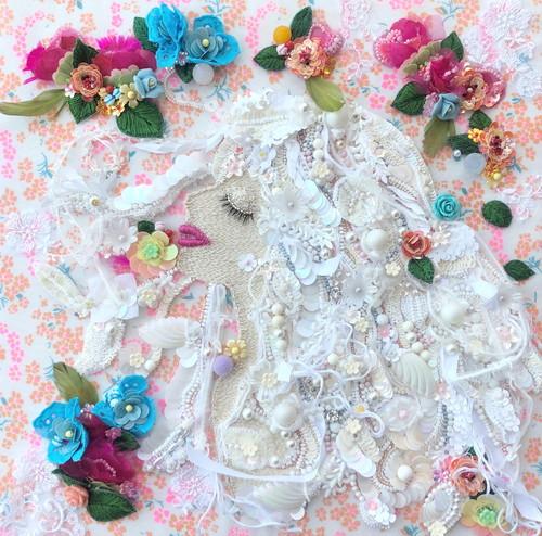 ビーズ 刺繍アート The goddess of flowers 花の女神