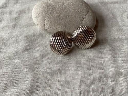 〈vintage silver925〉line round earrings
