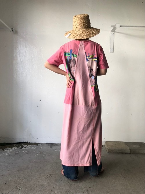 Used print Tee dress  Pink