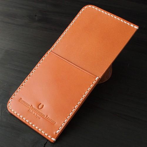 OP-01/1段縦型カード入れ増設カスタム◆スマホケース専用/国産牛本革素材