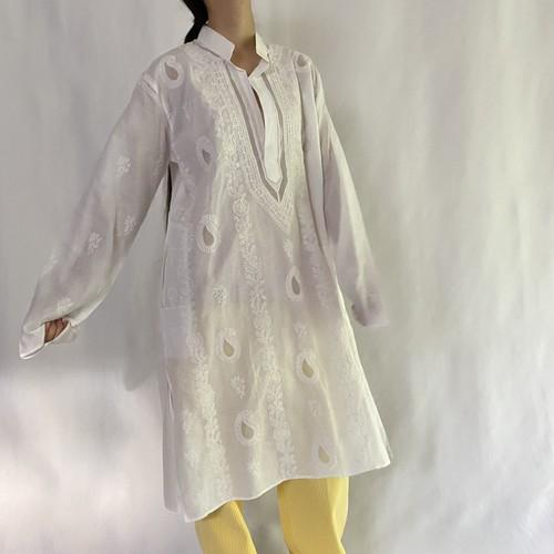 white embroidery kaftan (V5081A)