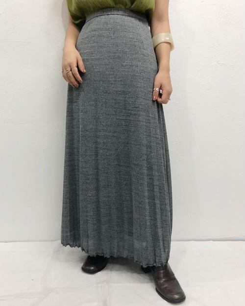 (PAL) frill pleats long skirt