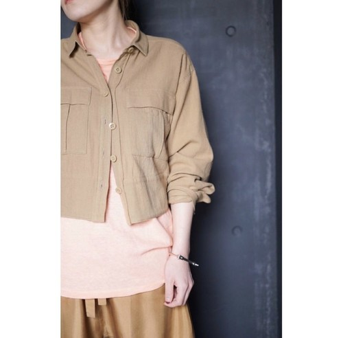 NOWOS / SHORT SHIRTS(BROWN)