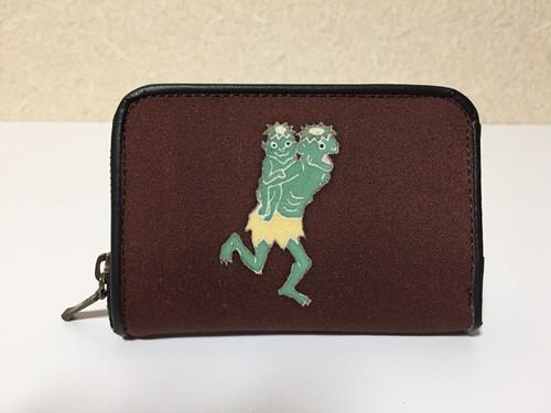 ラウンド財布「河童」茶色