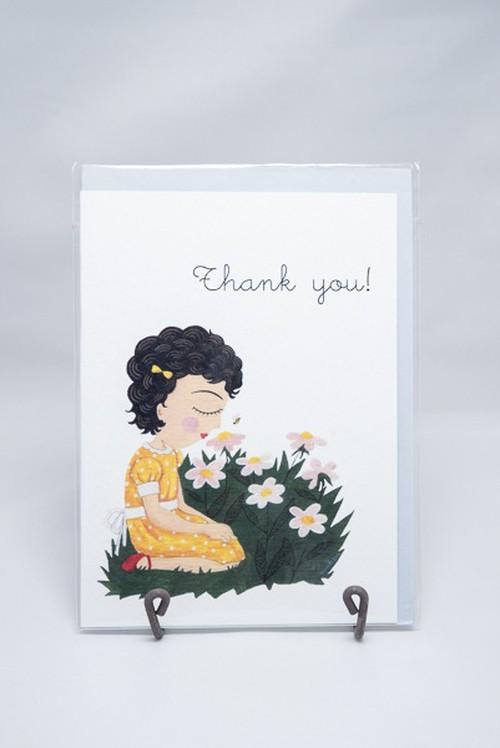 グリーティングカード*お花と女の子