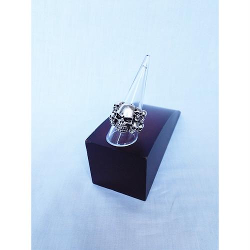 スカル ドクロ ガイコツ 指輪 リング 内径約18mm 内径約19mm 内径約20mm 内径約21mm ヒップホップ シルバー 銀 SILVER HIPHOP 548