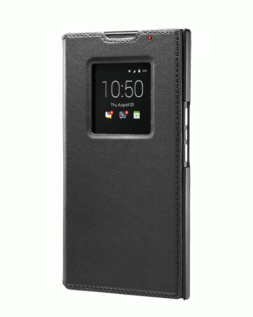 純正BlackBerry PRIV Leather Smart Flip Case Black