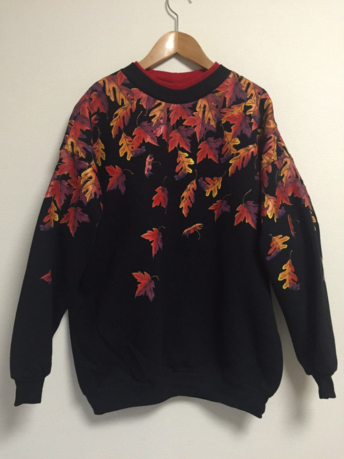 90's autumn leaves sweat