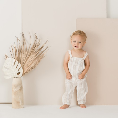 30%OFF Rylee + Cru sand stripe baby overall(12-18M~2-3Y)